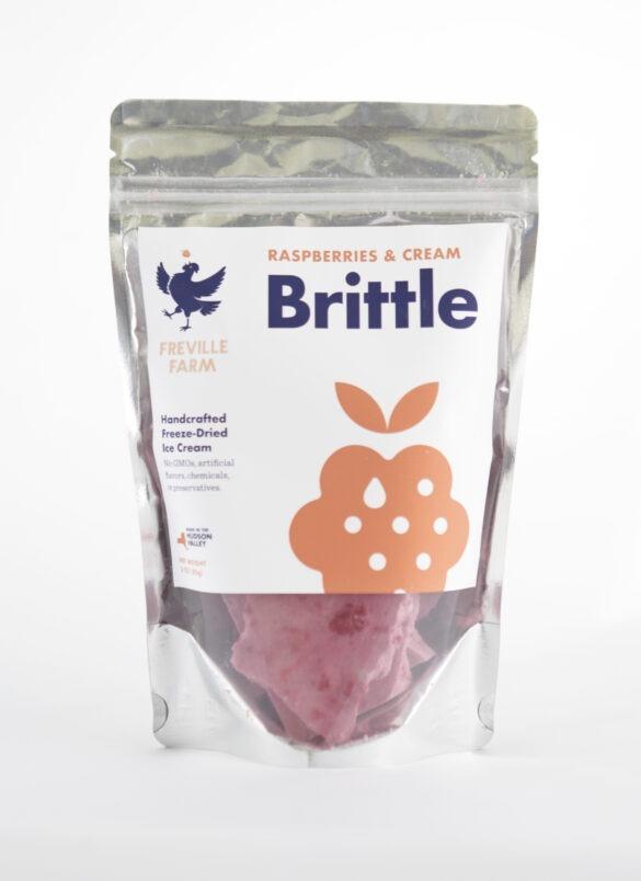 Raspberries & Cream Brittle